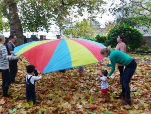 Leicester Unitarians Great Meeting children playing in garden