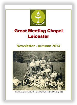 Leicester Unitarians Great Meeting newsletter Autumn 2014