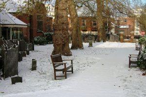 Chapel garden winter January 2010