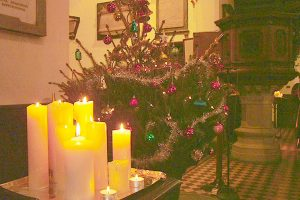 Christmas tree in Chapel
