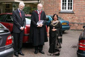 Great Meeting President Dr David Wykes, together with Rev. Arthur Stewart and the Lord Mayor Manjula Sood