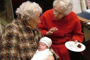 Oscar, the latest arrival, and 'Great Gran' at Christmas 2007