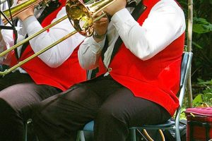 Playing the trombone - Enderby Youth Band