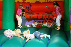 Fun on the bouncy castle