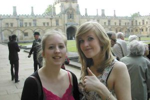 Kate and Jenny in the CCC quad