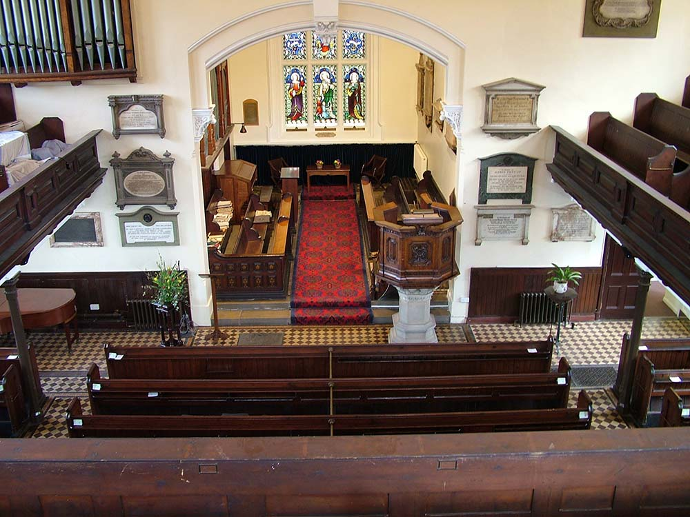 The interior of the Chapel looking from the balcony