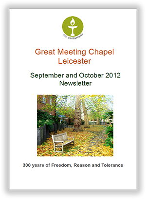 Leicester Unitarians Great Meeting Chapel newsletters 2012