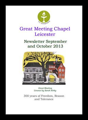 Leicester Unitarians Great Meeting newsletter Autumn 2013