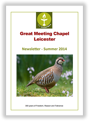 Leicester Unitarians Great Meeting newsletter Summer 2014