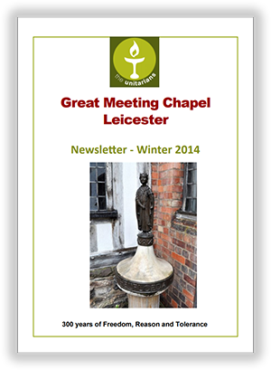 Leicester Unitarians Great Meeting newsletter Winter 2014