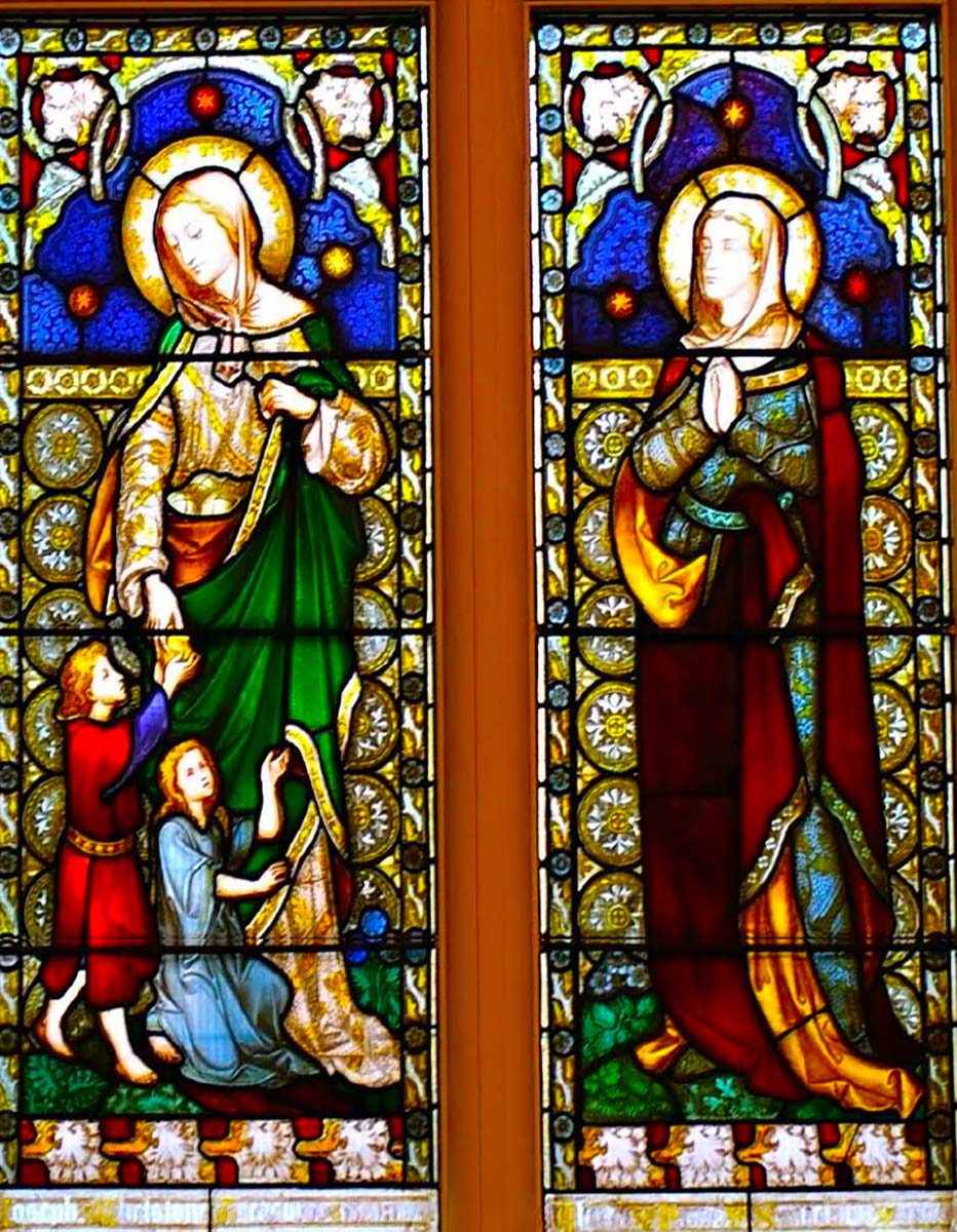 Leicester Unitarians Great Meeting stained glass window