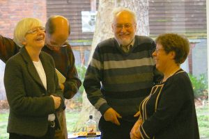 Ruth and Phil Archer with Cathy and Alan Bailey, get into the spirit of things!