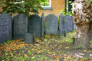 Slate grave markers