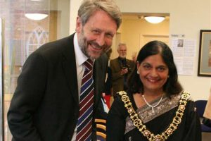 Chairman of the Congregation Sir Peter Soulsby with the Lord Mayor