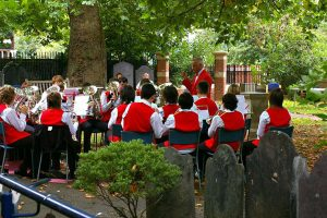 Enderby Youth Band, under the able direction of Trevor Haunsome