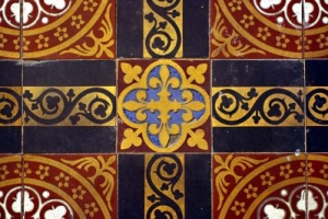 Tiles in Leicester Unitarians Great Meeting