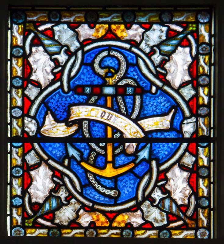 Leicester Unitarians Great Meeting Stained glass window - Hope