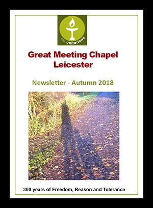 Leicester Unitarians Great Meeting Newsletter Autumn 2018