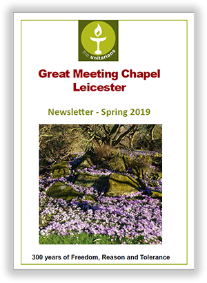 Leicester Unitarians Great Meeting Spring newsletter