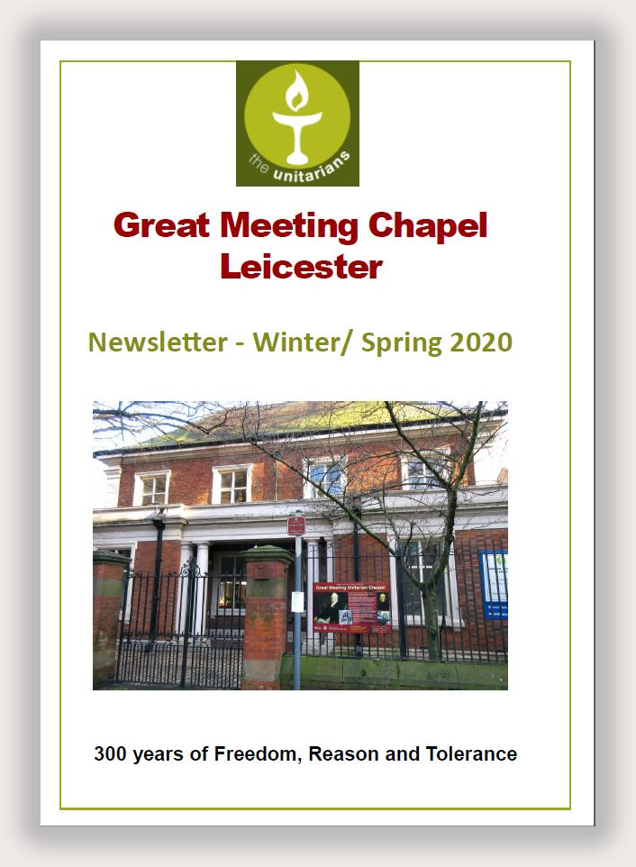 Leicester Unitarians Newsletter winter spring 2020