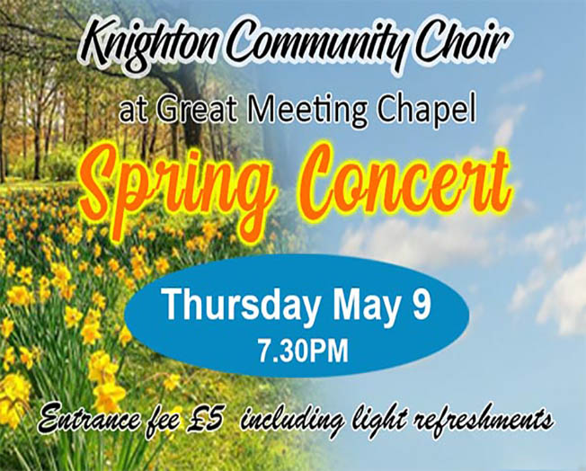 Leicester Unitarians Great Meeting Spring Concert