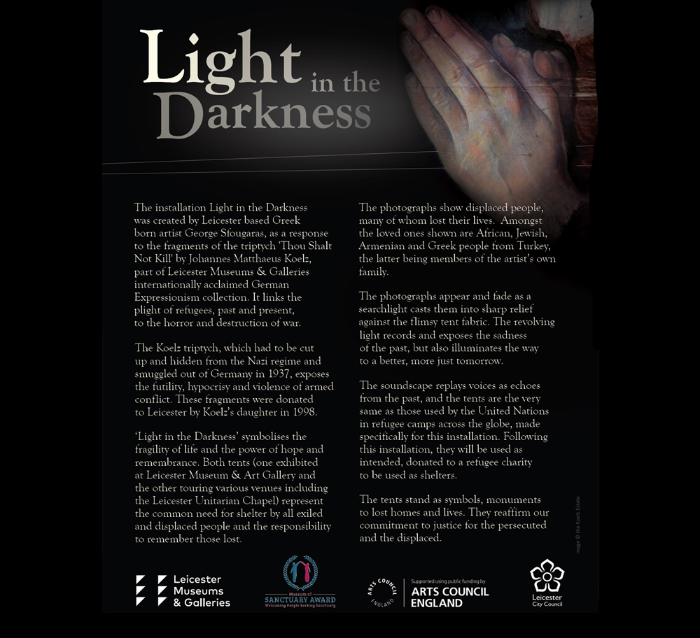 Great Meeting Unitarian Chapel Leicester light in darkness 03